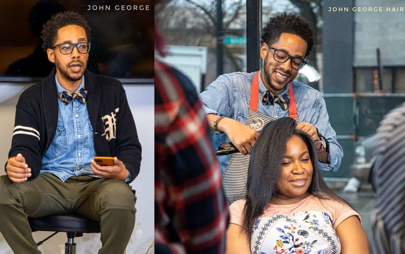 Hairstylist and Silk Press Expert John George