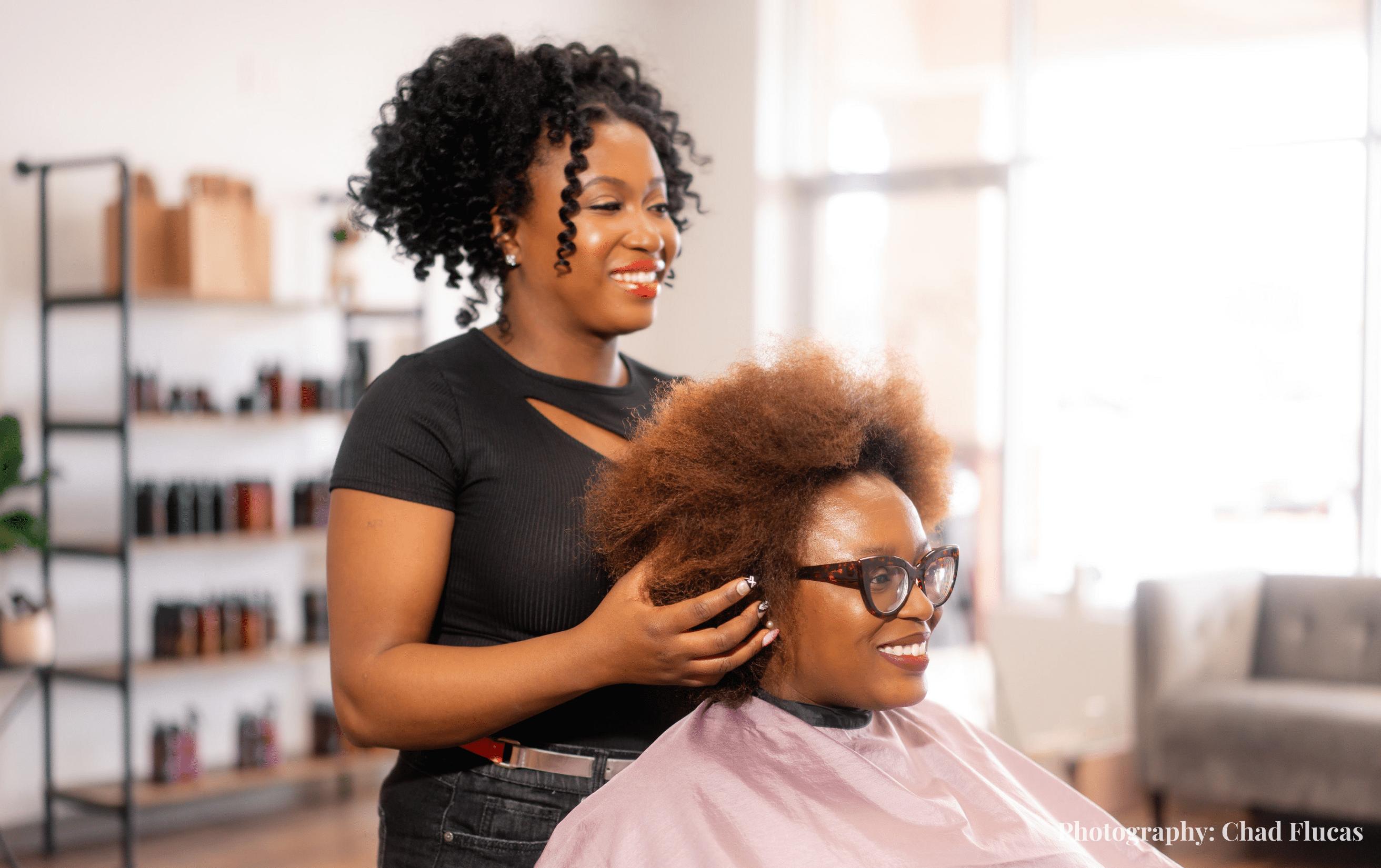 Hairstylist Shalleen-Kaye Jones of Style Queen Beauty