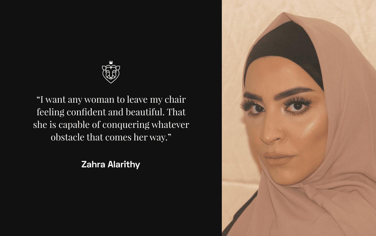 Asian beauty pro Zahra Alarithy