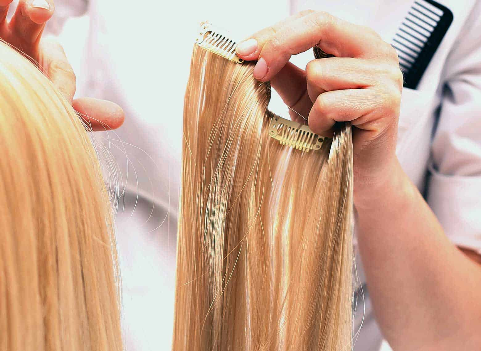 installing clip-in hair extensions