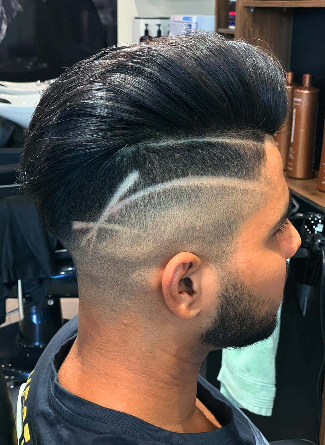 man with undercut line up and design