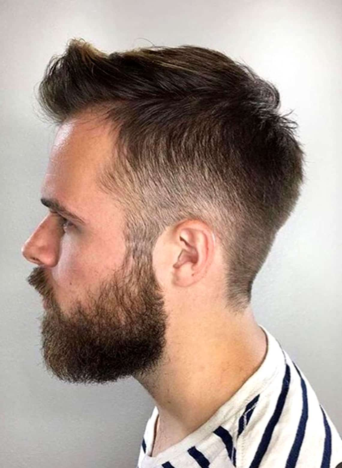 man with classic taper