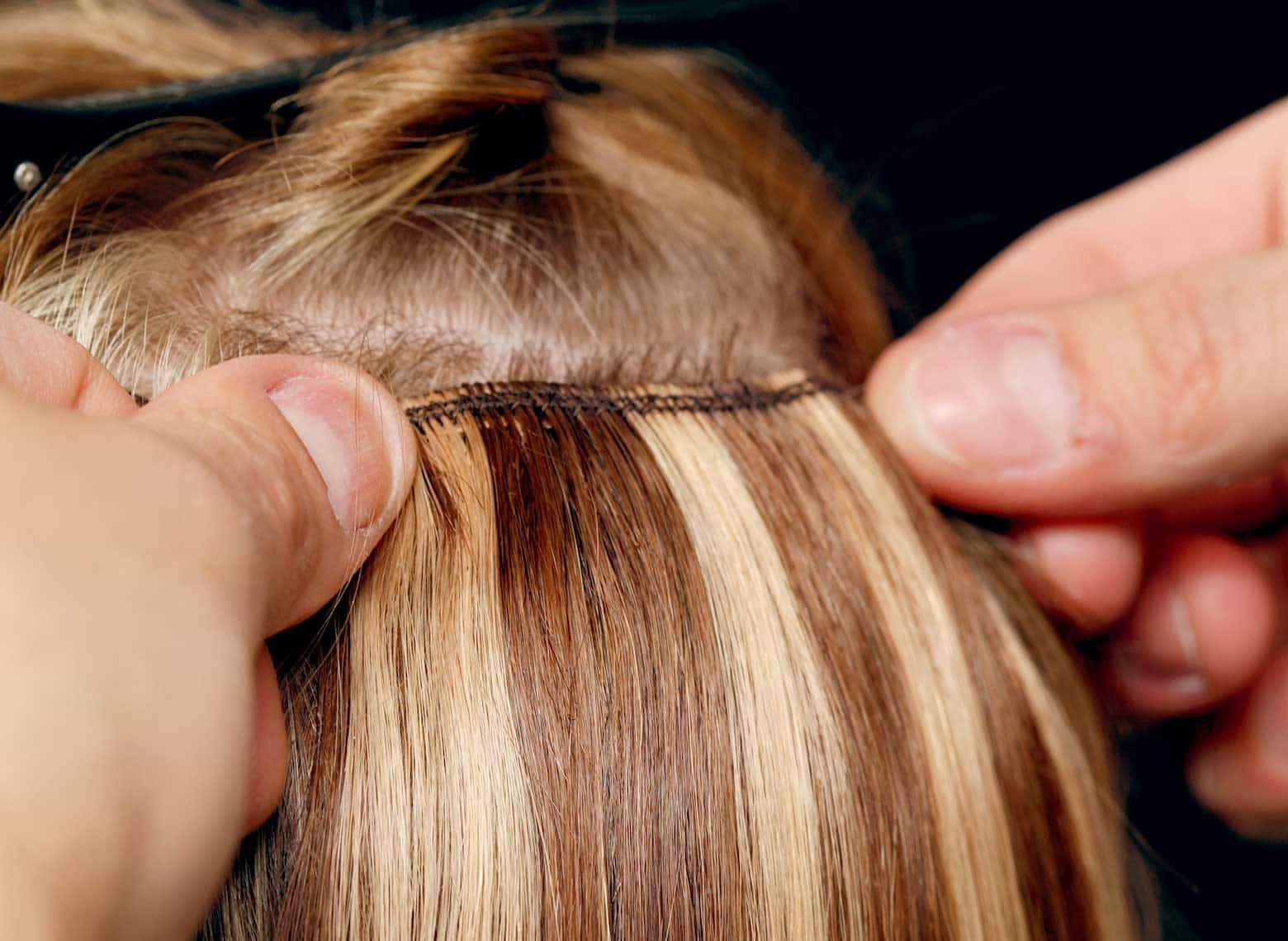 installing glue-in hair extensions