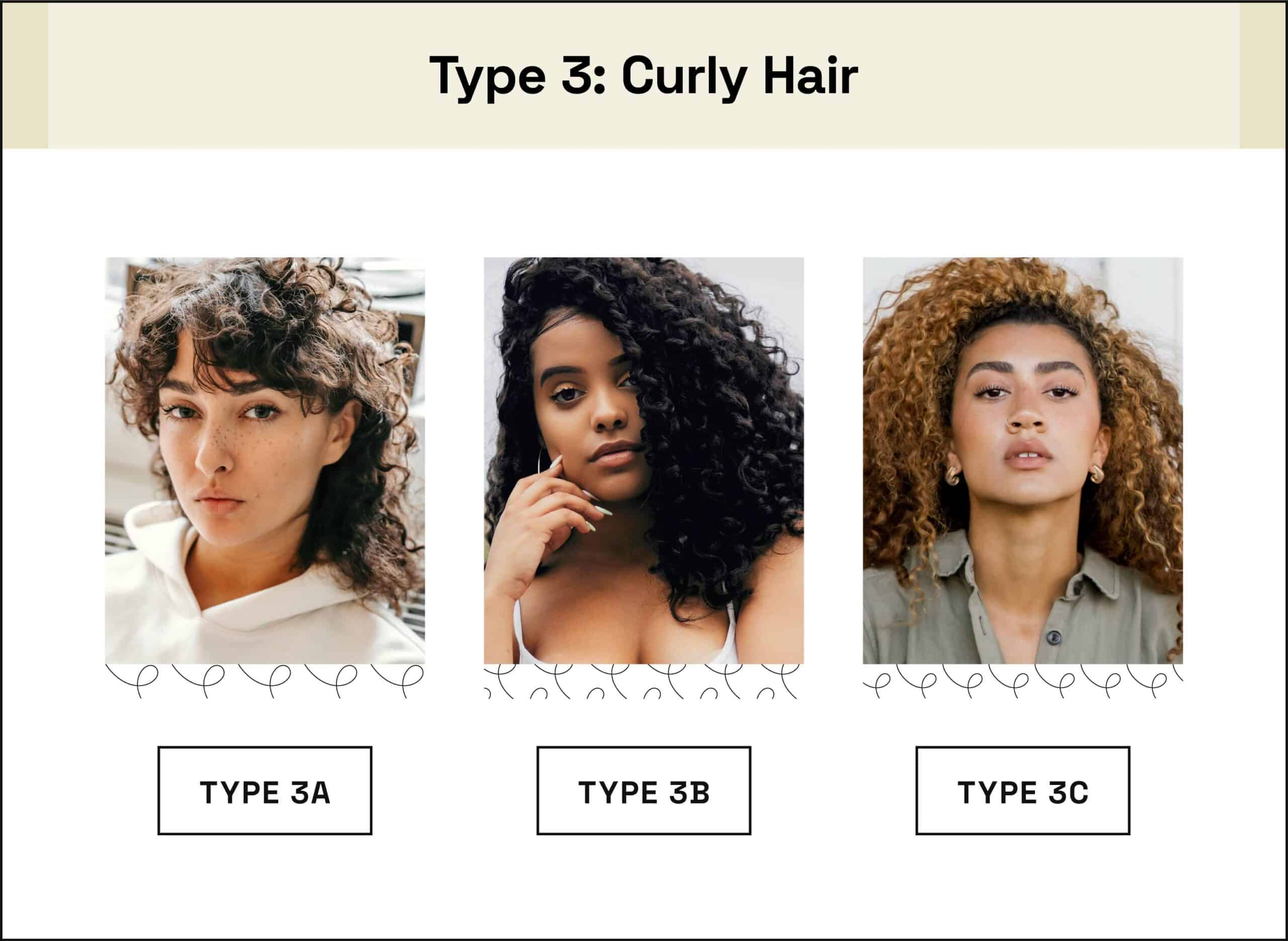 examples of type 3a 3b 3c hair textures