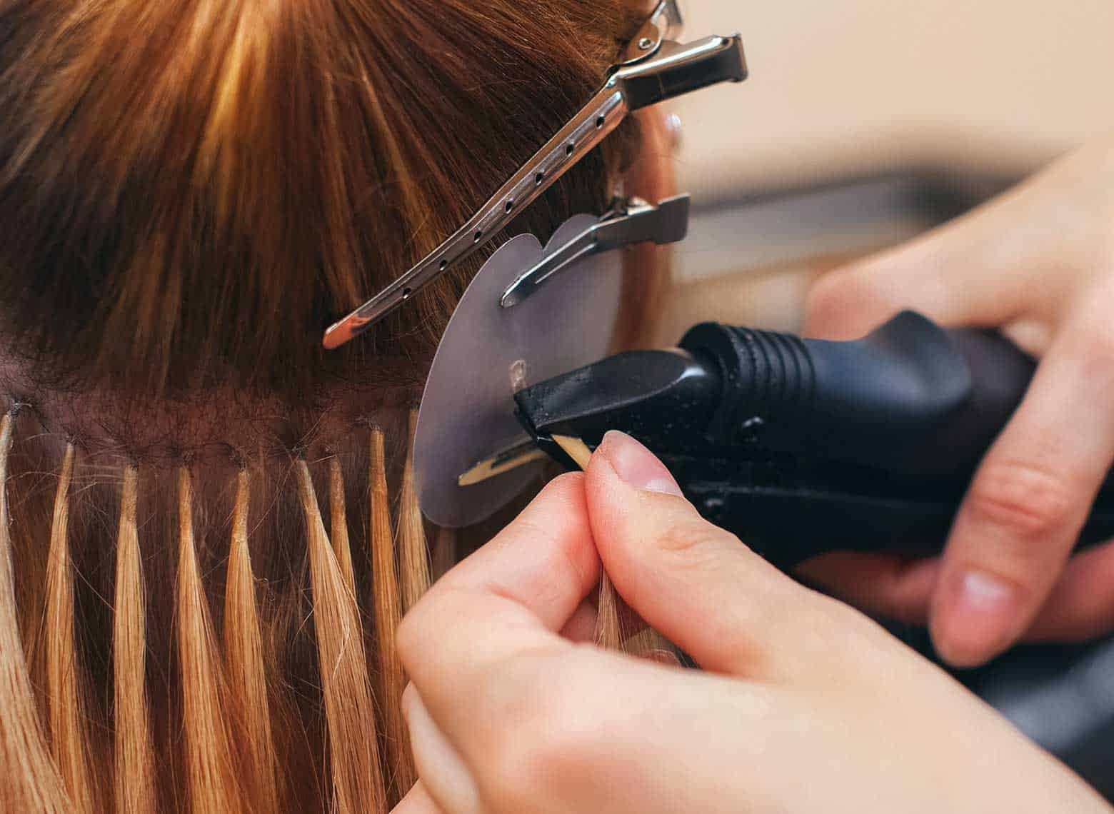 installing fusion hair extensions
