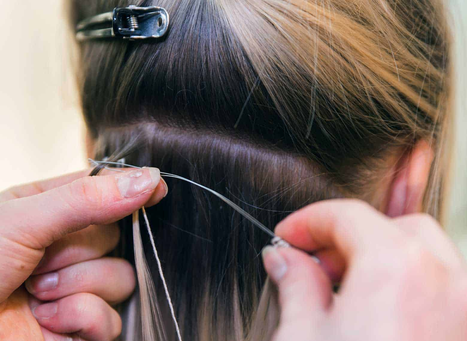 installing hand tied extensions