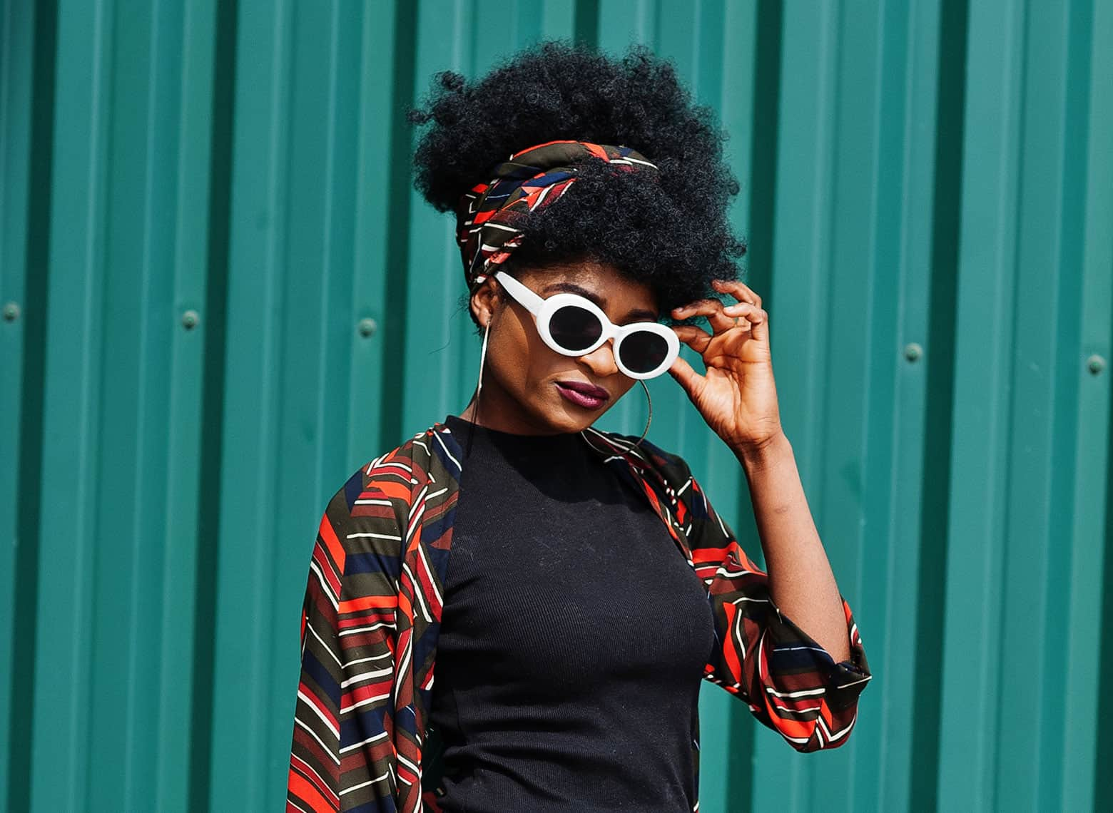 head wrap with high puff