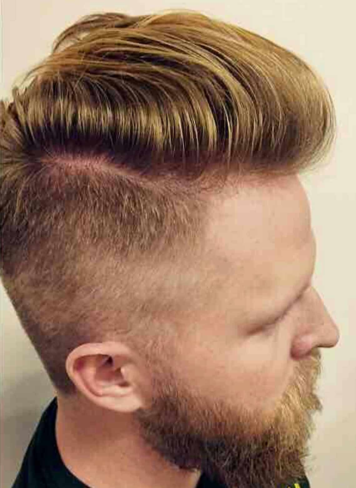 man with pompadour with taper