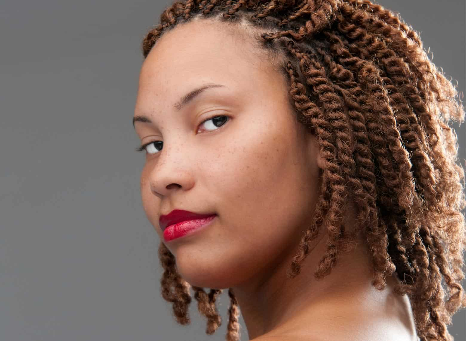 woman with two strand twists