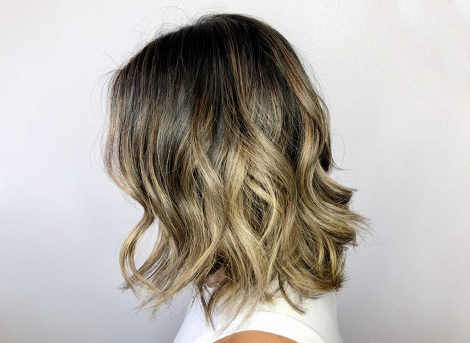 woman with long bob and loose waves