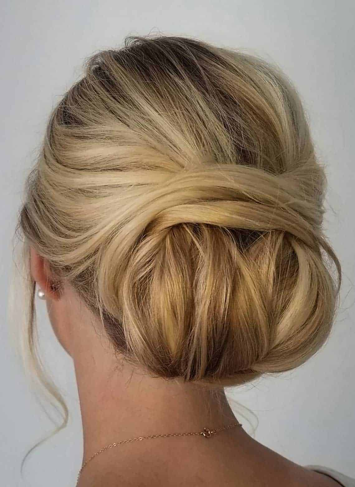 woman with wrapped updo