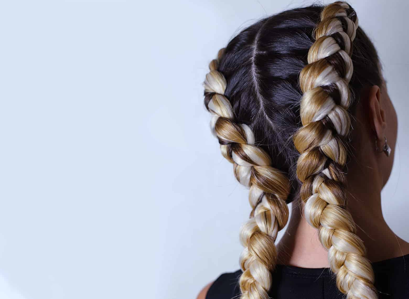 woman with french braids