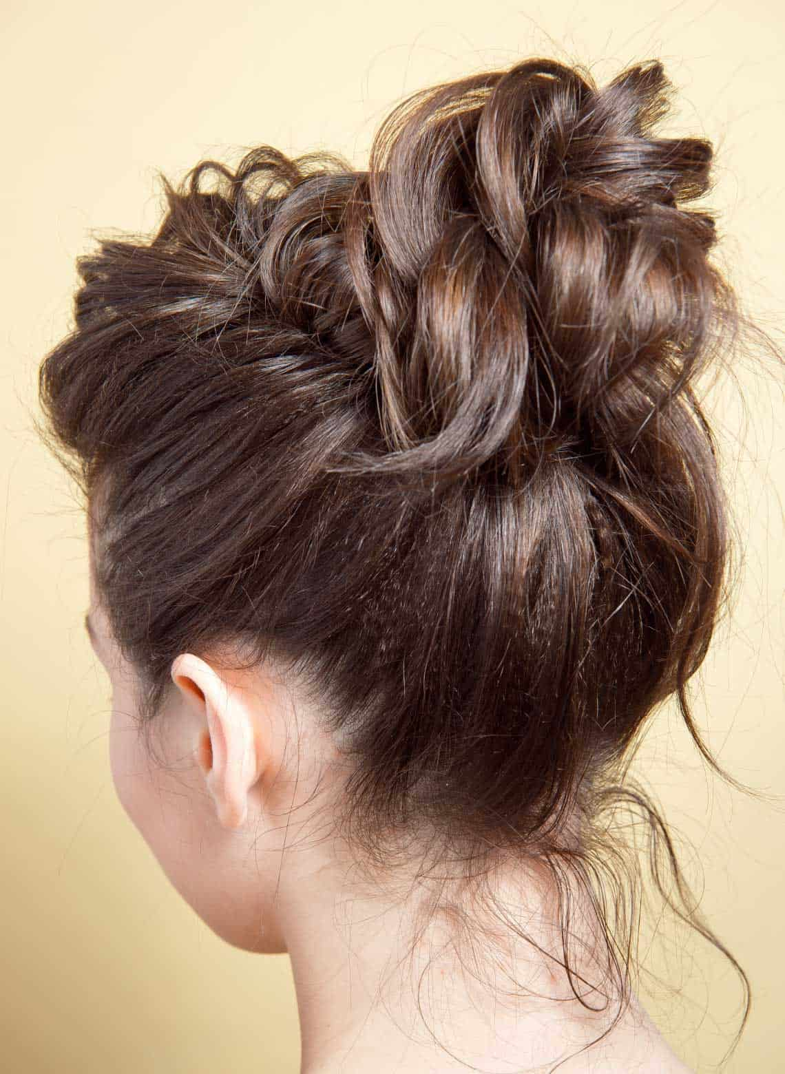woman with loose updo
