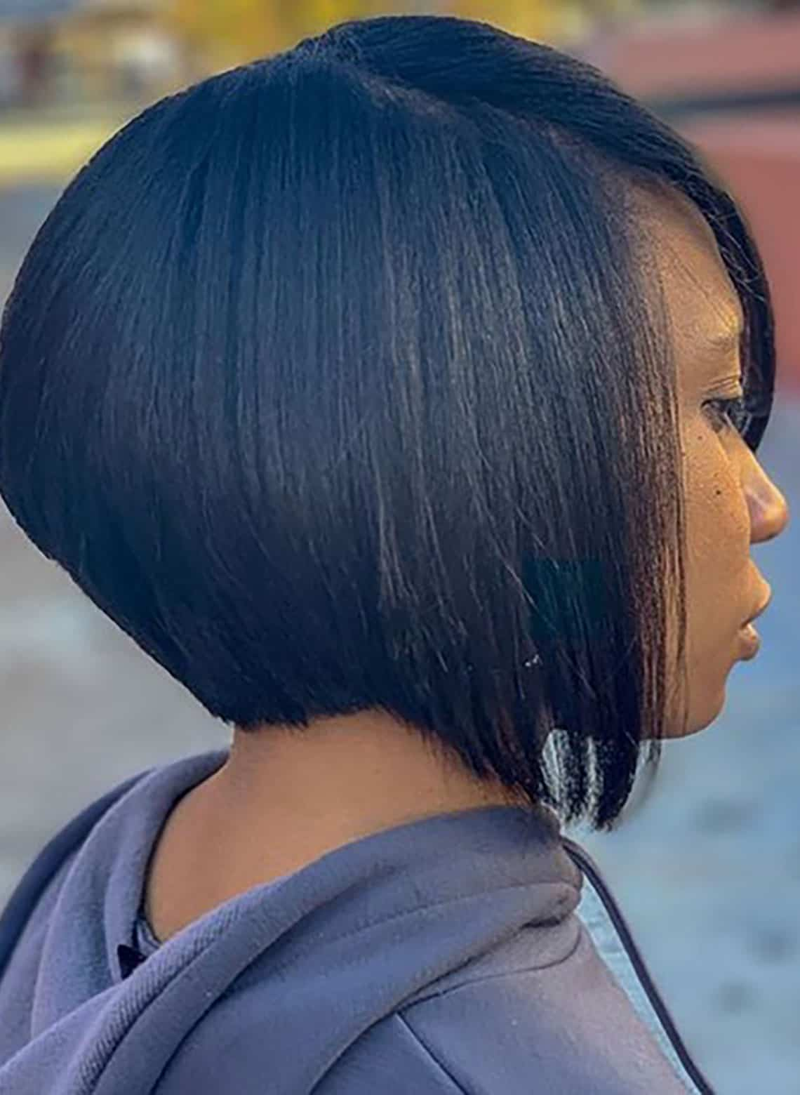 woman with stacked bob