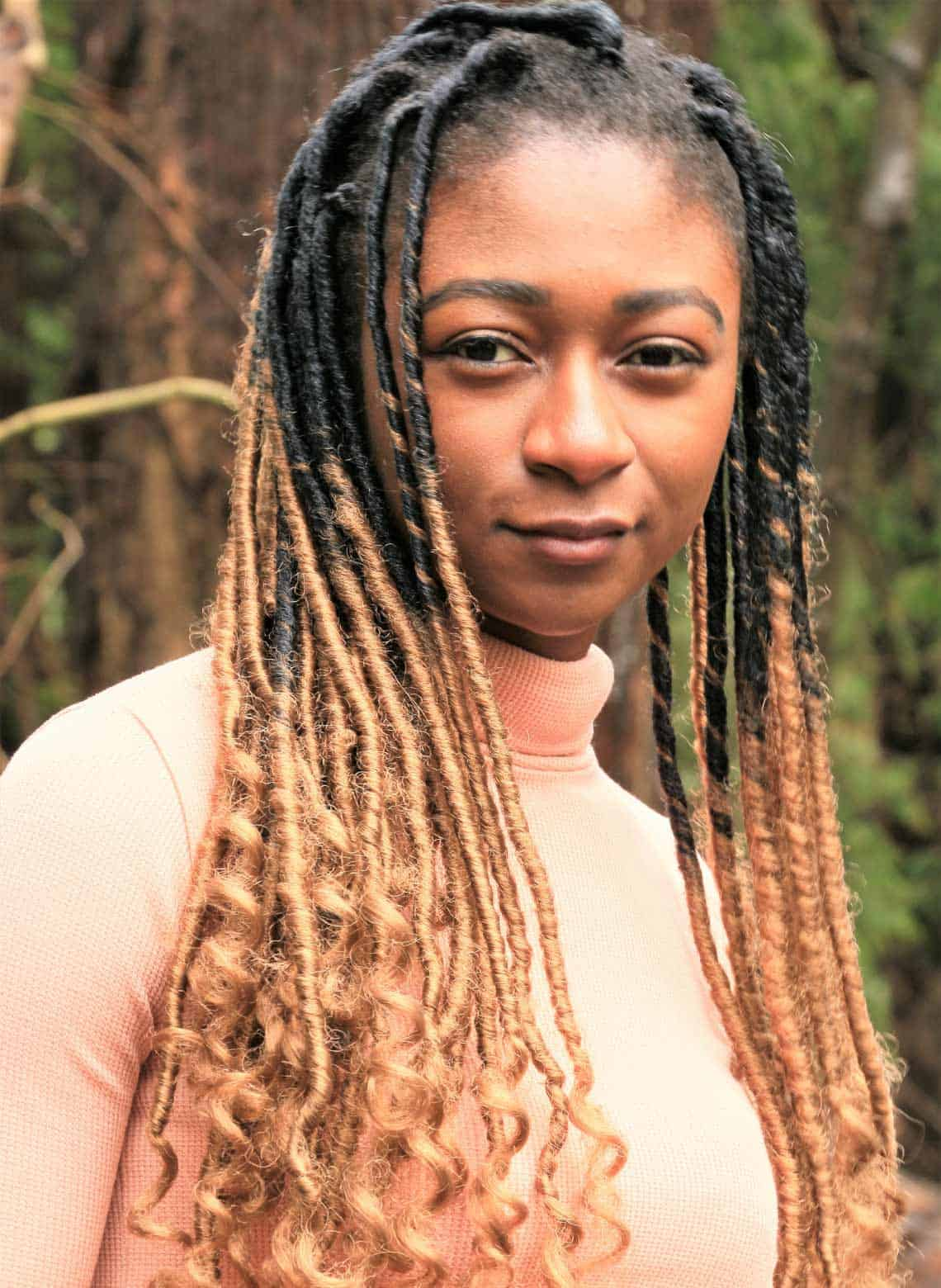 woman with long locs