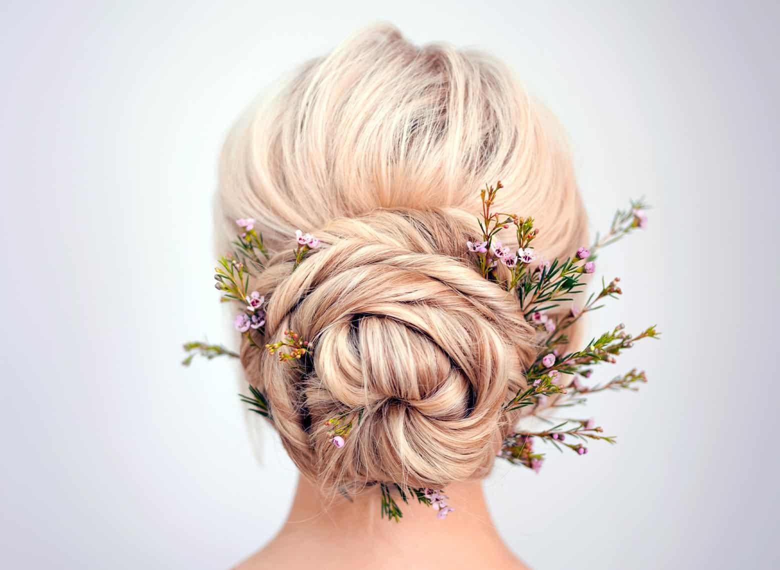 woman with twisted updo