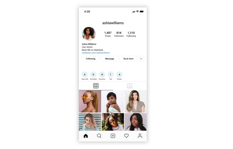 Instagram Book Button
