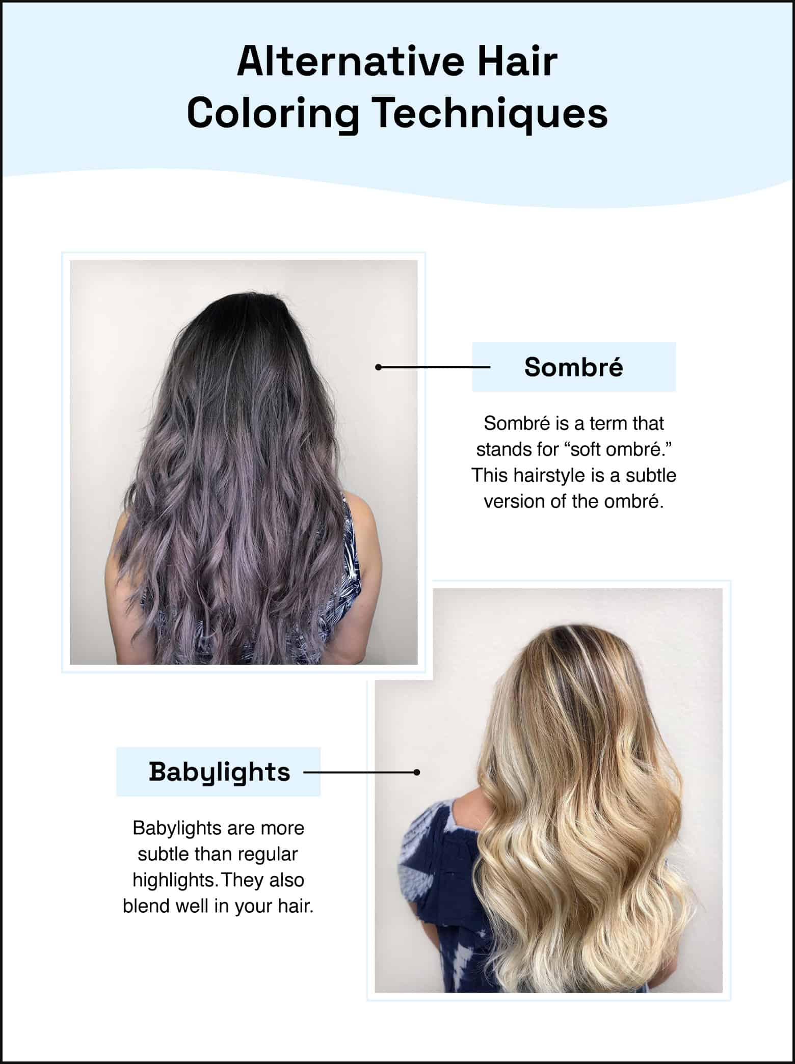 alternative hair coloring techniques sombre babylights