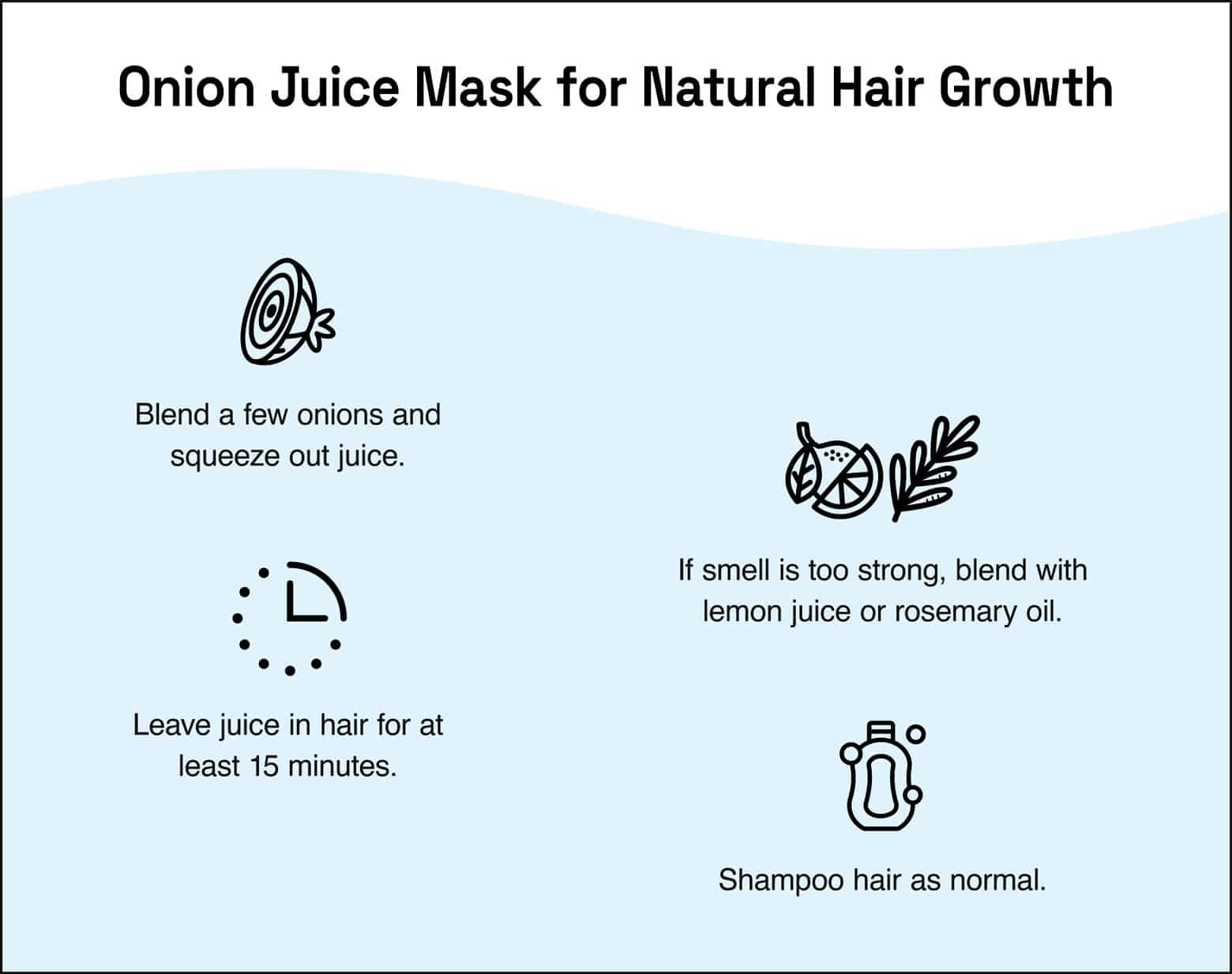 onion juice mask for natural hair growth instructions