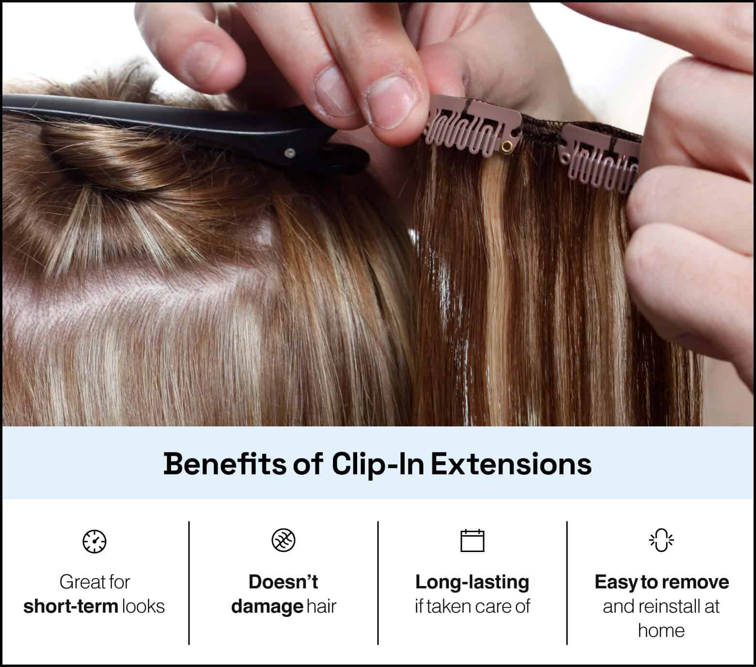 benefits of clip-in extensions