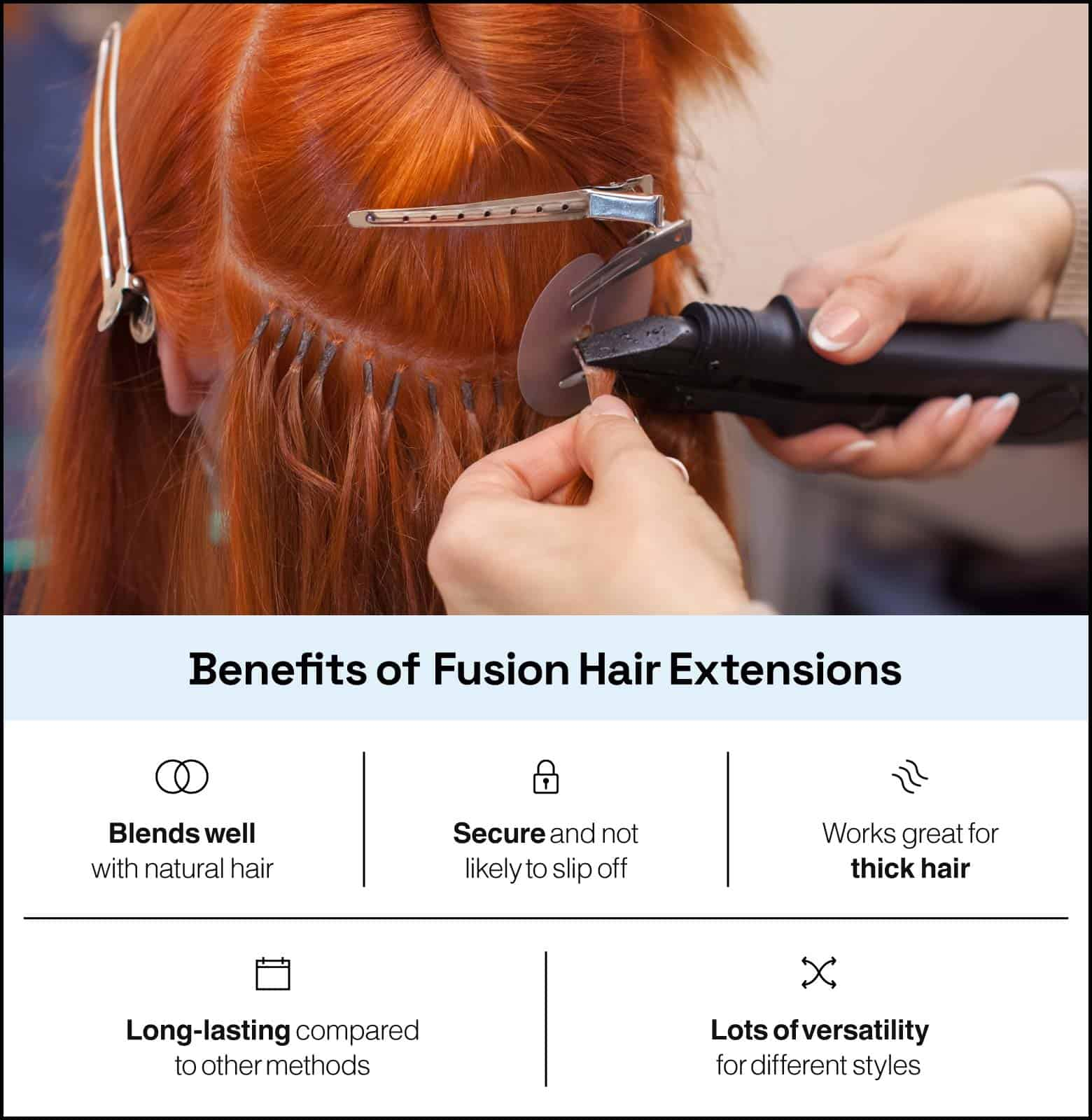 benefits of fusion hair extensions