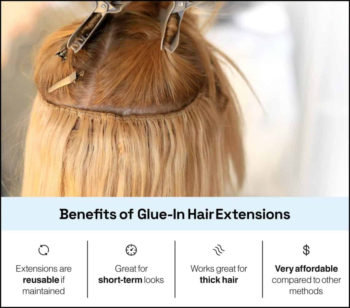benefits of glue-in extensions