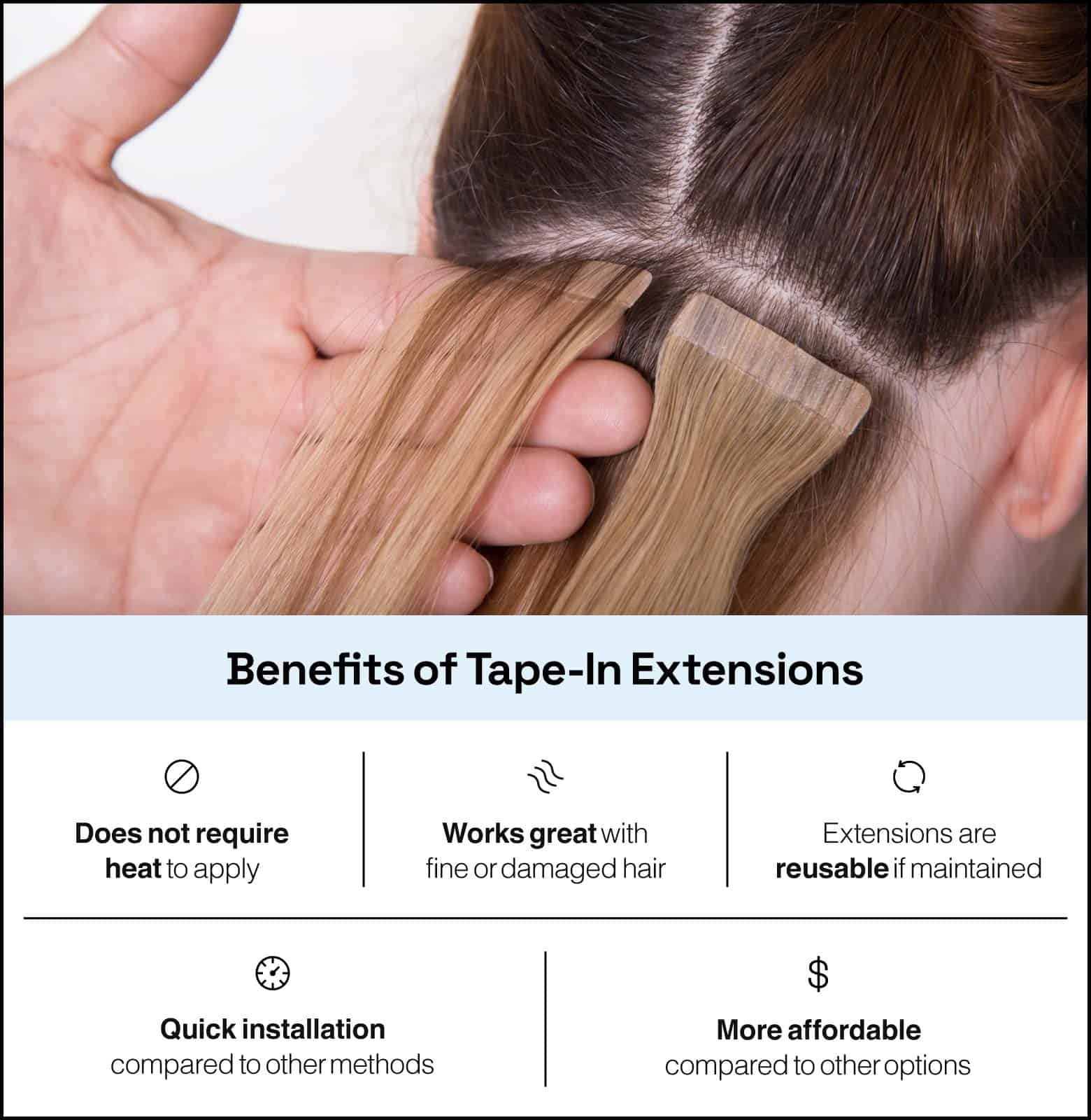 benefits of tape-in extensions