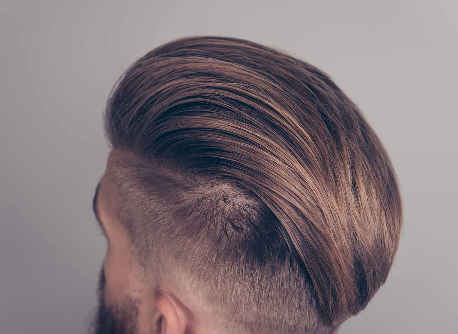 man with disconnected haircut