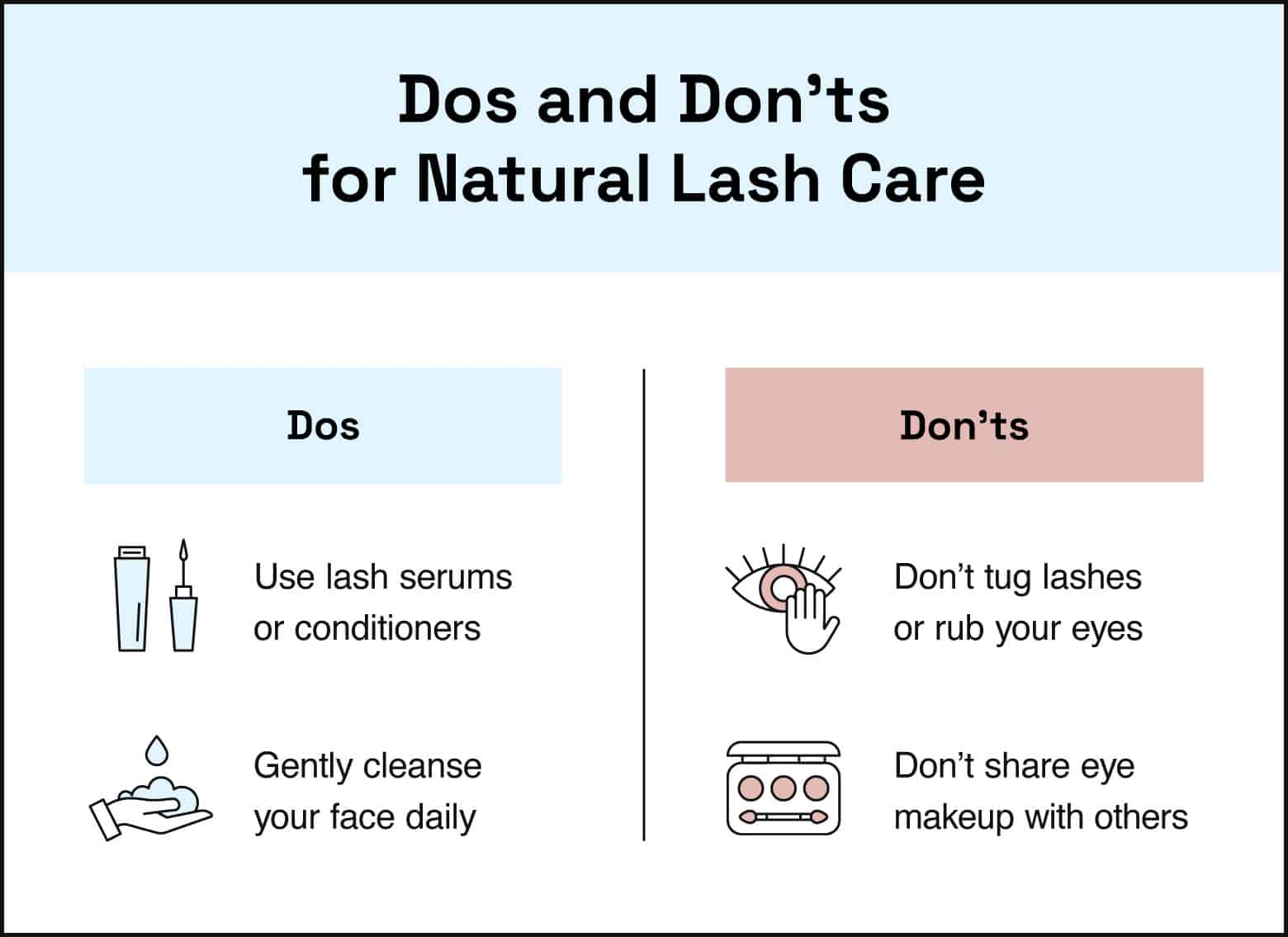 dos and donts for natural lash care