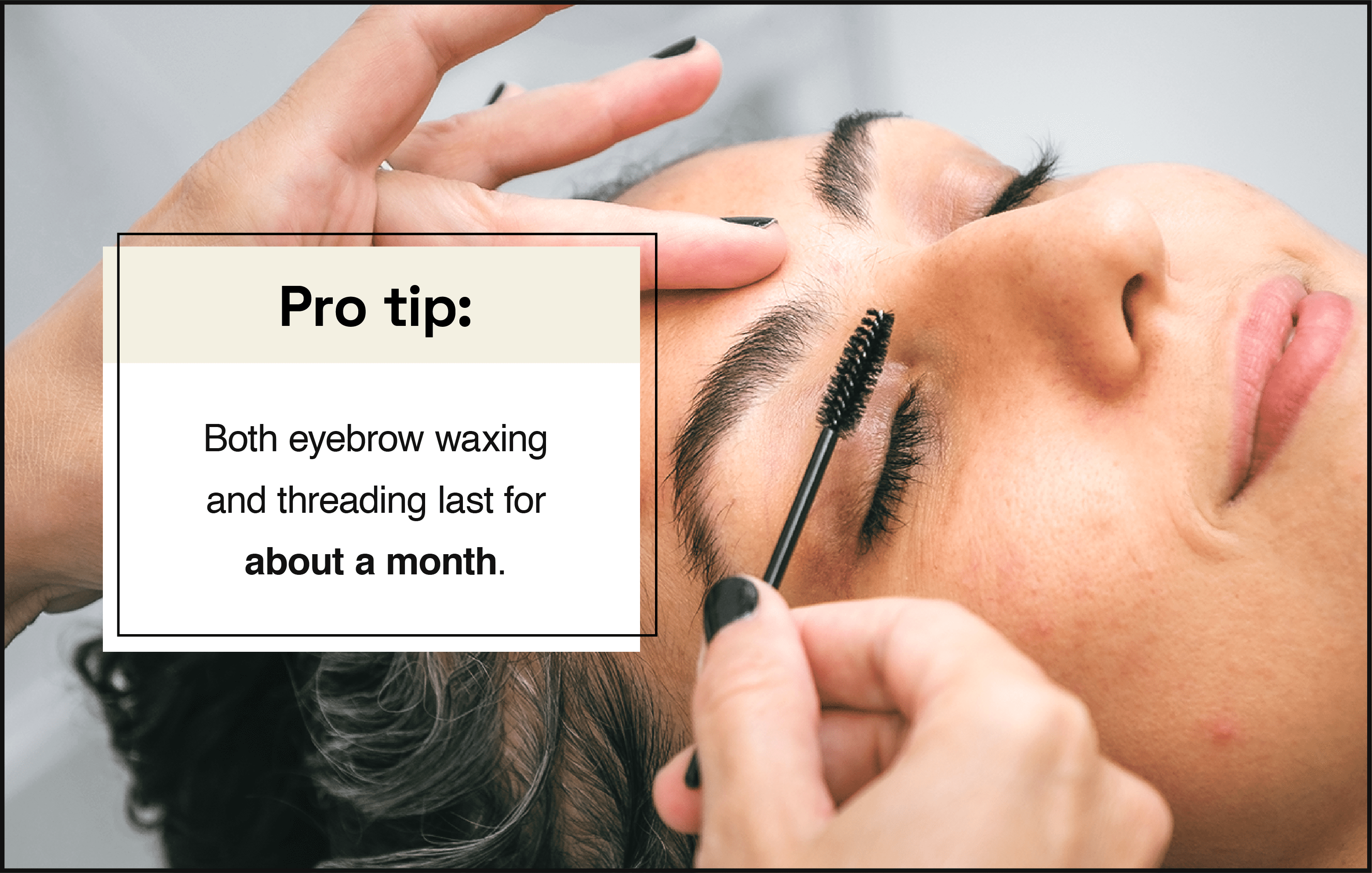 eyebrow results last on e month