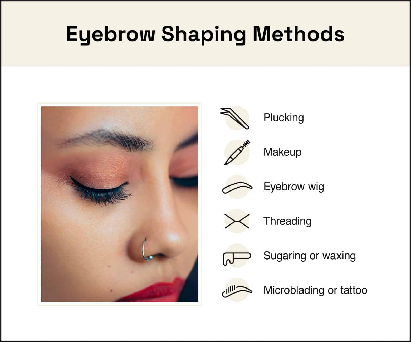 eyebrow shaping methods