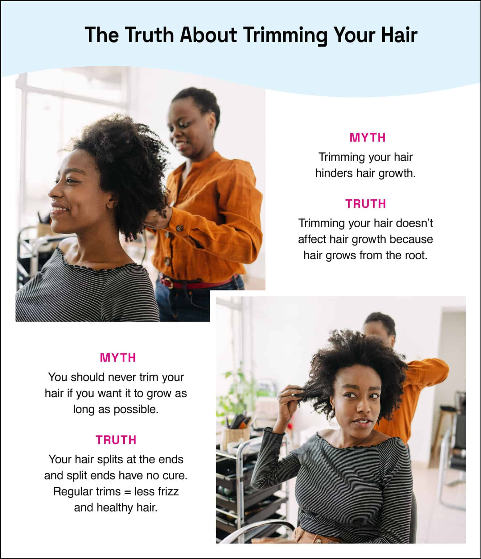 myths and truths about trimming hair