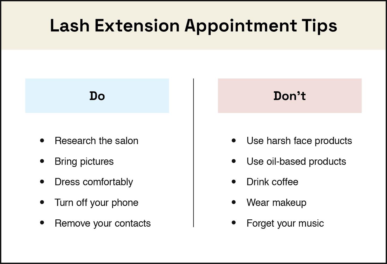 lash extension application tips