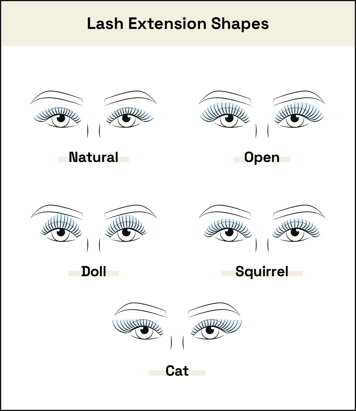 lash extension shapes examples