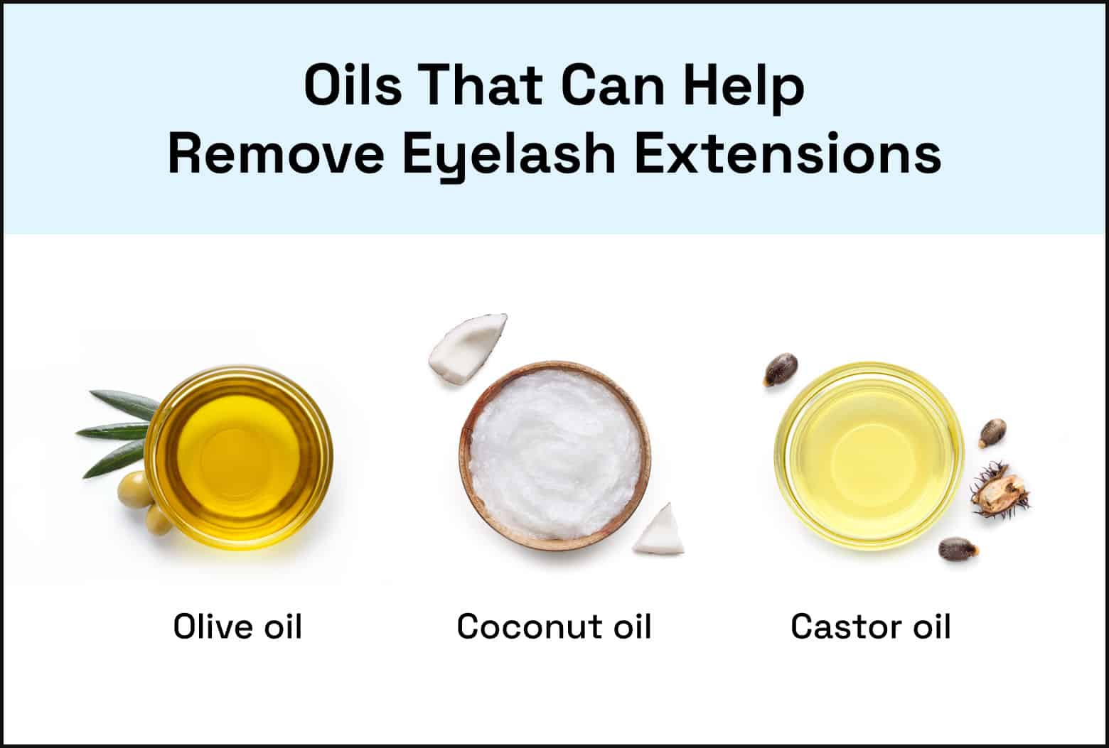 oils that can help remove eyelash extensions