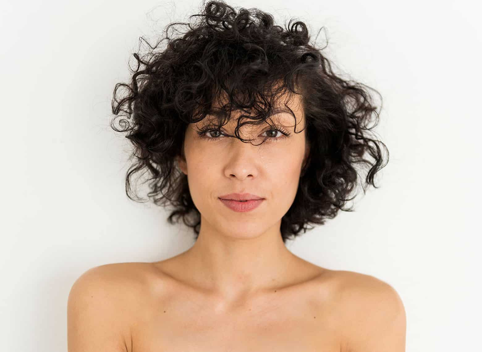 woman with shaggy curls
