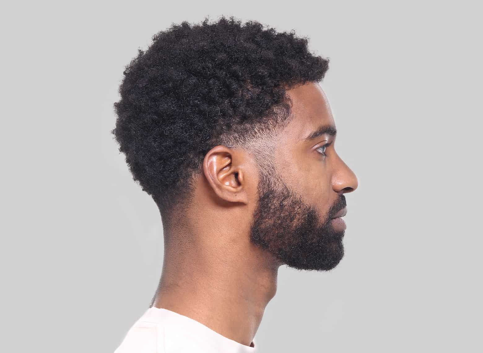 man with skin taper