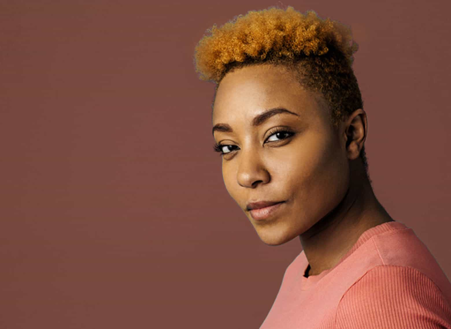 woman with tapered cut