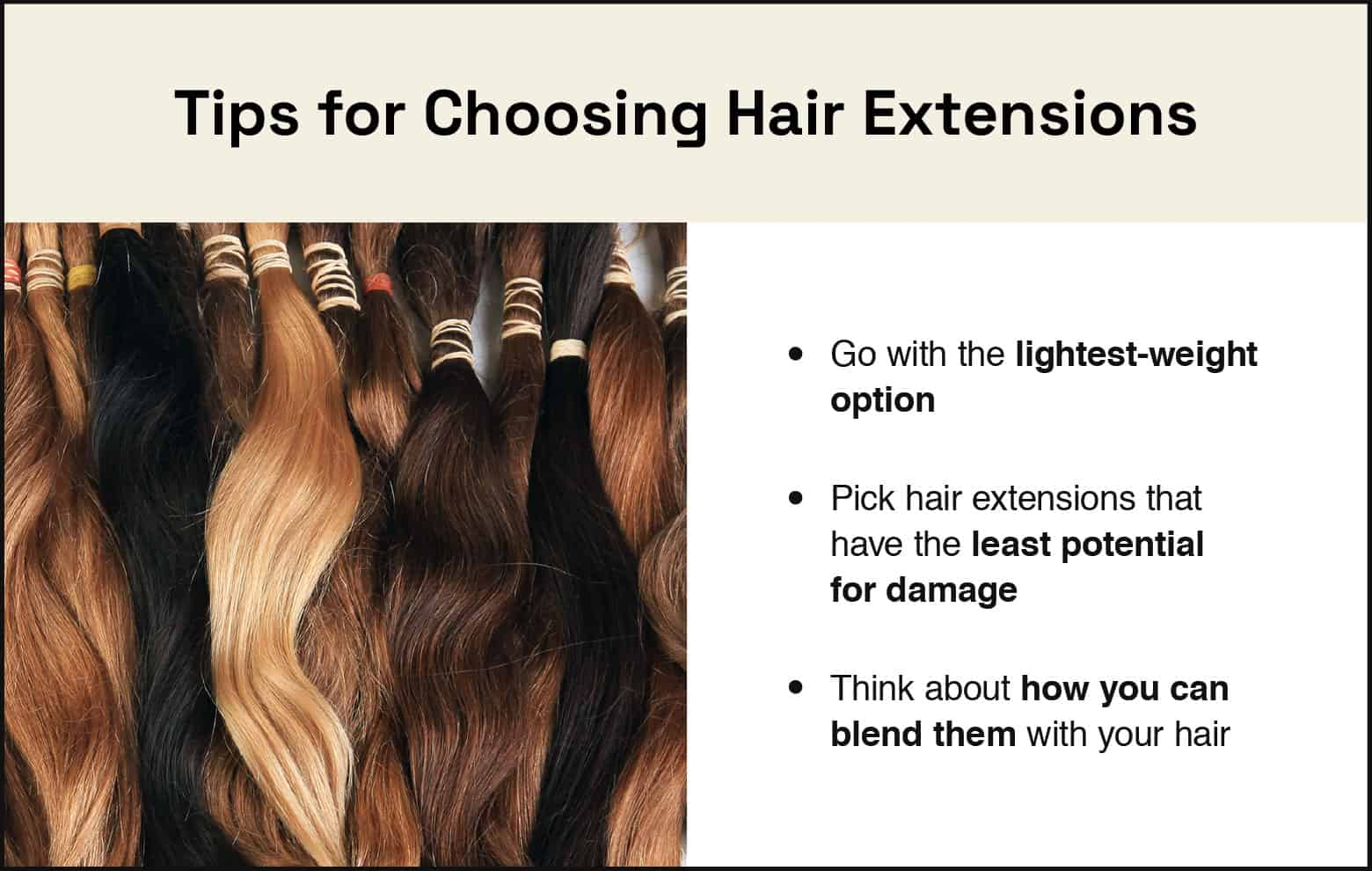 tips for choosing hair extensions