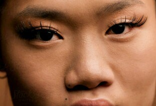 woman with beautiful lash extensions