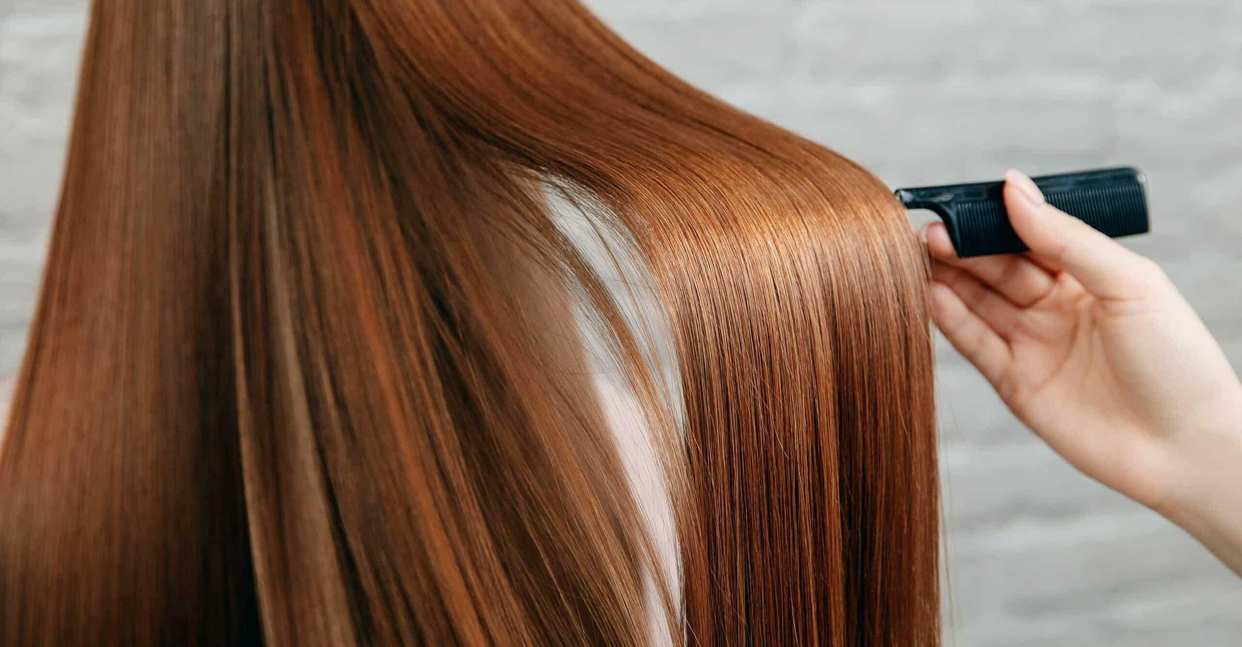 combinging hair