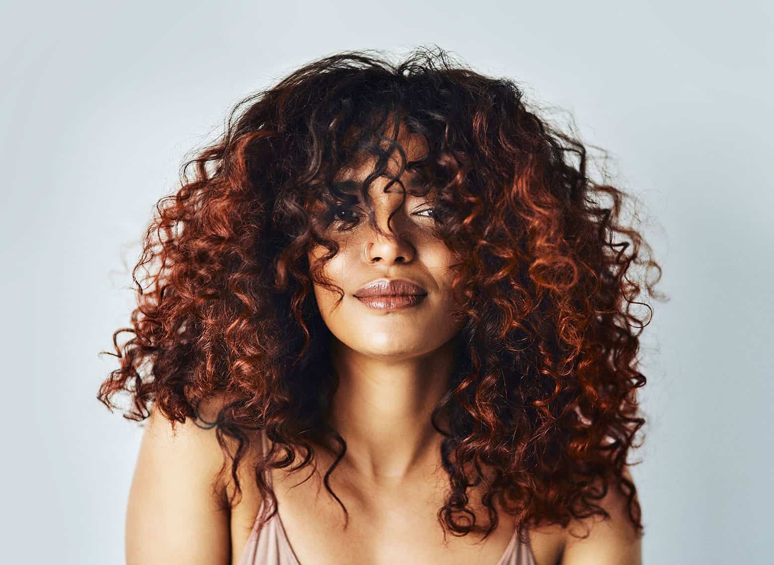 woman with voluminous curls